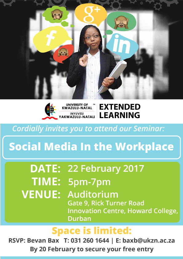 invitation to seminar  social media in the workplace